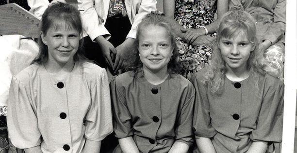 Lappenrantalaisten Laura Hakulisen, Jonna Imeläisen ja Kirsi Såhlbergin tyttötrio ylsi vuoden 1992 Tenavatähti-kisan semifinaaliin asti.