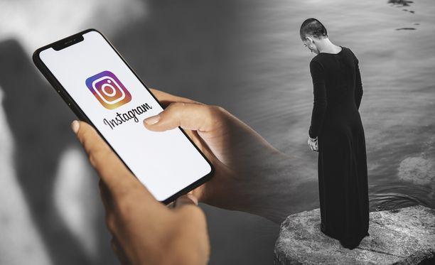 Instagram pyrkii piilottamaan kaiken itsetuhoisuuteen liittyvän sisällön. Kuvituskuva.