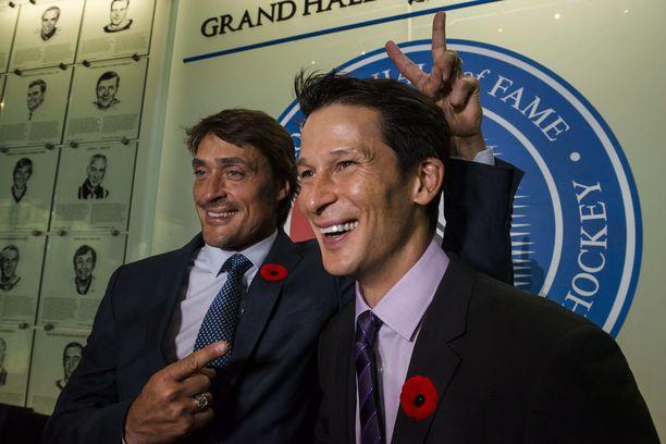 Teemu Selänne ja Paul Kariya valittiin Hockey Hall of Fameen viime vuoden marraskuussa.