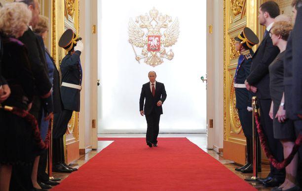 Edelliskerran Putinin virkaanastujaisia vietettiin toukokuussa 2012.