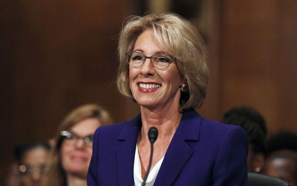 Betsy DeVos on USA:n seuraava opetusministeri.