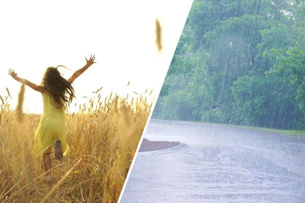 Kesäkuu oli osassa maata harvinaisen kuuma ja kuiva ja toisaalla varsin sateinen.
