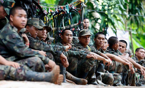 Thaimaan pelastusoperaatiossa oli mukana muun muassa maan armeija.