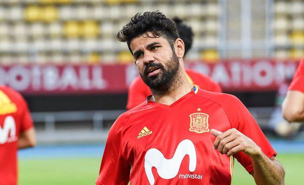 Diego Costa edustaa maajoukkuetasolla nykyisin Espanjaa.
