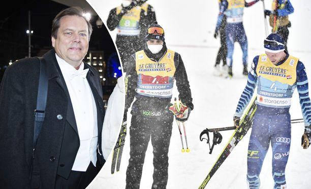 Jari Porttila (vas.) haluaa auttaa suomalaisia urheilijoita.