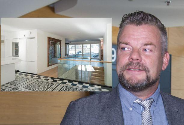 Jari Sillanpää on laittanut kaupunkikotinsa myyntiin.