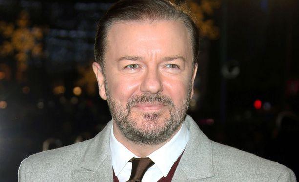 Brittikoomikko Ricky Gervais juontaa gaalan neljännen kerran.