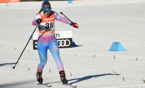 Krista Pärmäkoski oli toinen perjantaina Toblachissa Tour de Skin viidennessä osakilpailussa.