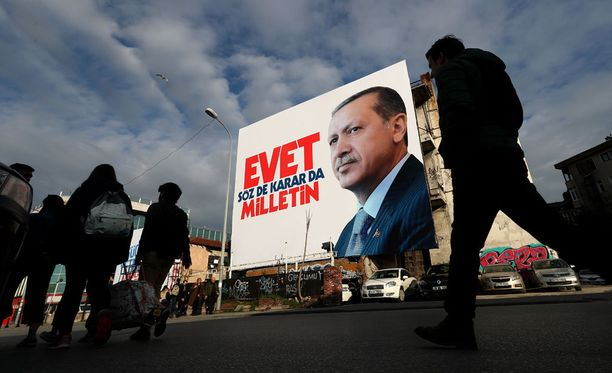 Recep Tayyip Erdogan määrää Turkissa.