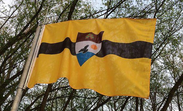 Tällainen on Liberlandin lippu.