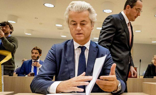 Wilders valmistelevassa istunnossa.