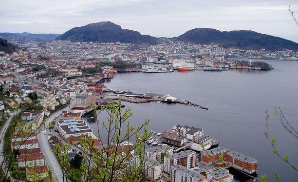 Norjan Bergen on kuulu sateistaan.