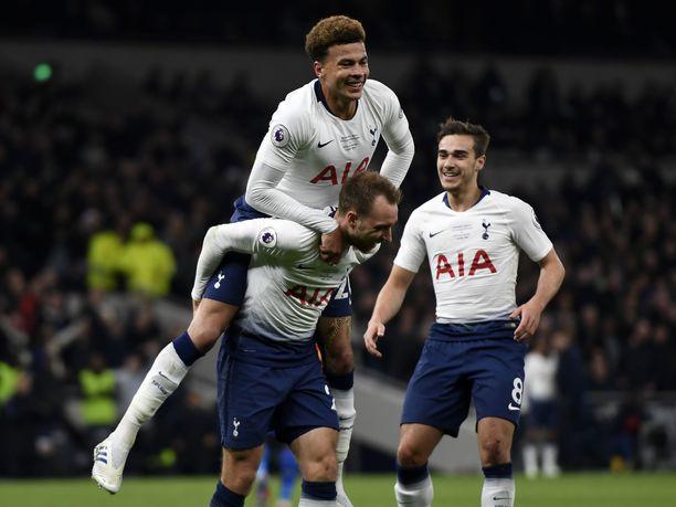 Christian Eriksen oli Tottenhamin sankari.