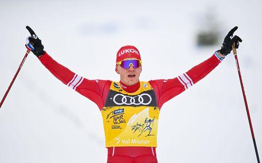 """Yksi kuva Tour de Skiltä kertoo venäläismiesten uskomattomasta ylivoimasta: """"Kansalliset kisat"""""""