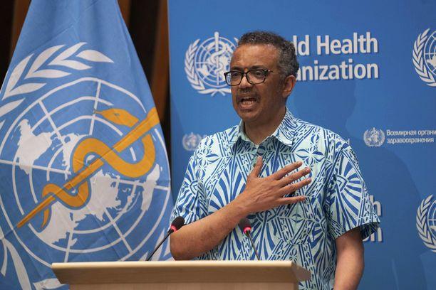 WHO:n pääjohtaja kehotti maita suhtautumaan koronavirukseen vakavasti. Kuva tämän vuoden toukokuulta.
