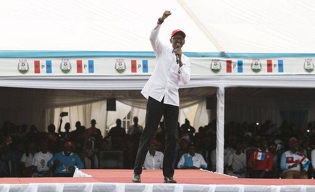 Ruandan tänään järjestettävien presidentinvaalien varmana voittajana pidetään nykyistä presidenttiä Paul Kagamea.