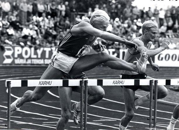Arto Bryggare oli maailman huipulla pika-aidoissa 1980-luvulla. Kuva vuoden 1983 Kalevan kisoista.