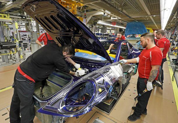 Porschen tuotantolinjoilla Stuttgartissa Saksassa.