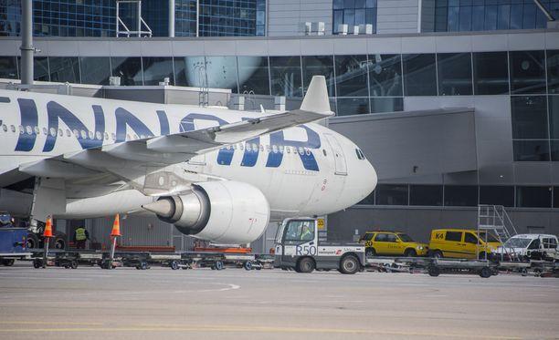 Finnairin lento Tokiosta ei päässyt määränpäähänsä eli Helsinki-Vantaalle asti. Kuvituskuva.