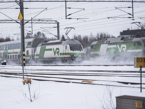 Rautateiden henkilöliikenne kulkee lakon aikana normaalisti, RAU kertoo tiedotteessaan. Kuvituskuva.