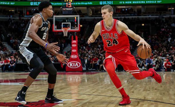 Lauri Markkanen on vakiinnuttanut pelipaikkansa Chicago Bullsissa.