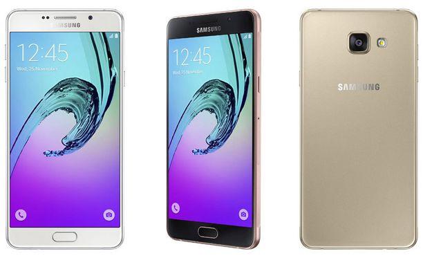 Samsungin Galaxy-mallisto valtasi joulun ykköshitin paikan Applen iPhonelta. Kuvassa vuonna 2016 julkaistava Galaxy A.