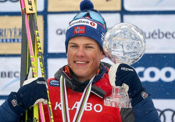 Johannes Kläbo on maailmancupin ykkönen.