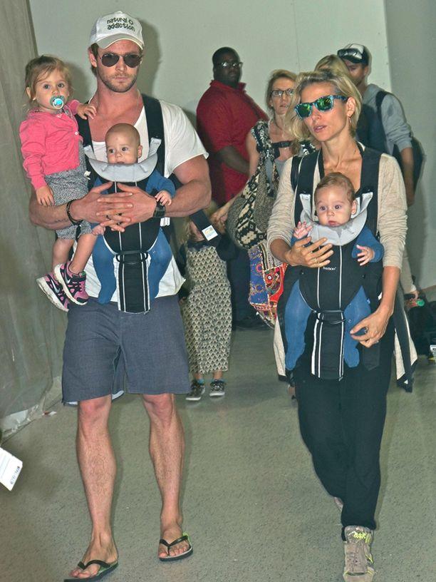 Chris Hemsworthilla ja Elsa Patykylla on kolme lasta.