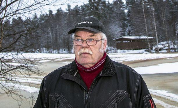 Tämä jää tähän koko talveksi ja vähän hankalaa on, sanoo Tuomo Takala Huittisista.