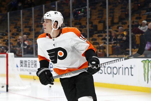 Jori Lehterä kiekkoilee NHL:ssä Philadelphia Flyersin paidassa.