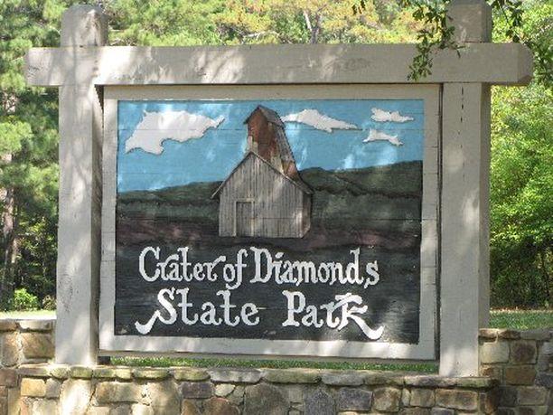 Crater of Diamonds sijaitsee Arkansasin osavaltiossa.