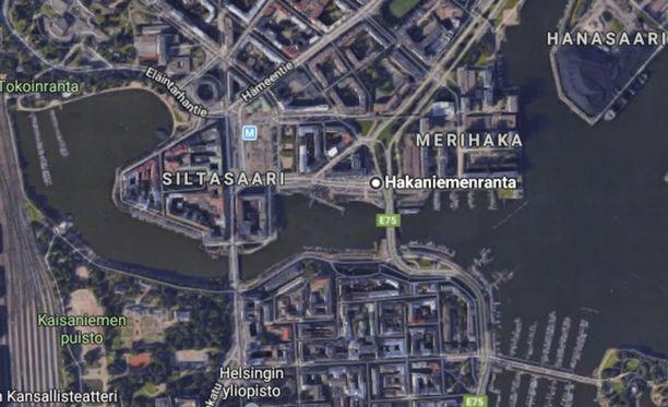 Hakaniemenranta sijaitsee Helsingin keskustan tuntumassa.
