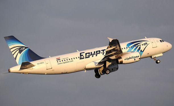 Egypt Airin kone oli matkalla Pariisista Kairoon, kun se syöksyi Välimereen. Arkistokuva.