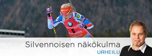 Kaisa Mäkäräisellä on tämän kauden maailmancupista kaksi voittoa, torstain kakkossija ja kaksi kolmatta sijaa.
