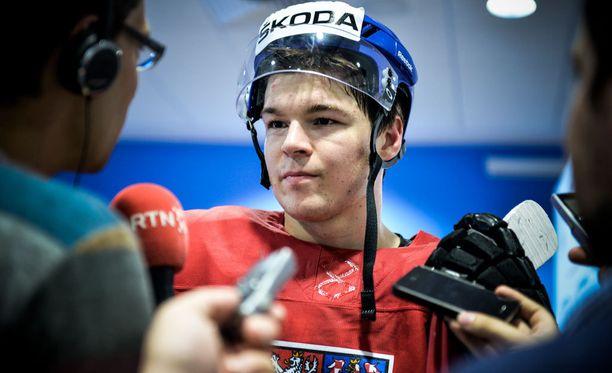 Tomas Hertl jääkiekon MM-kisoissa keväällä 2014.