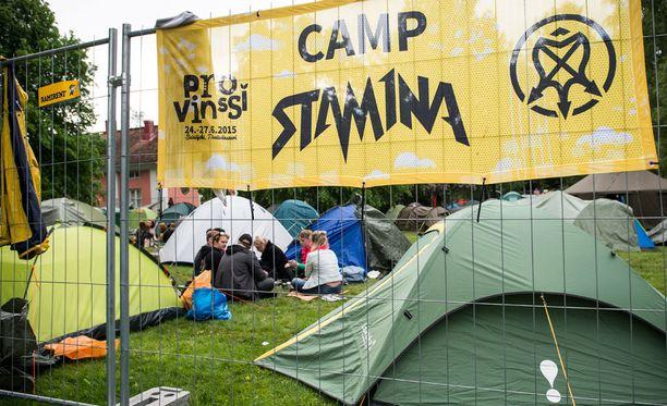 Provinssin Camp Stam1na -leirintäalue.