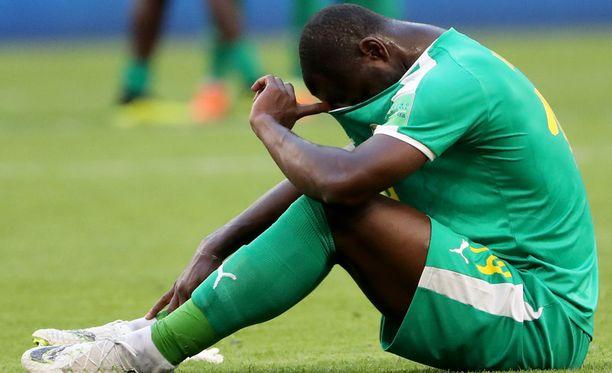 Senegalin Moussa Konate oli maansa myynyt Kolumbia-ottelun jälkeen.