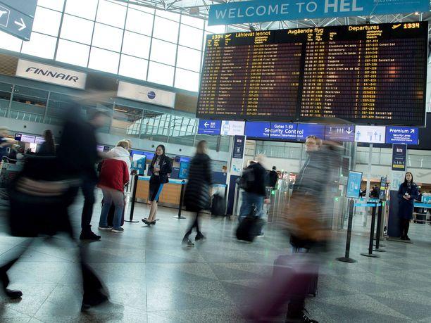 Finnair kertoo sopeuttavansa kotimaan ja Euroopan lentoja. Kuvituskuva.