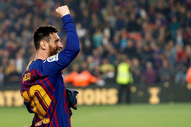 Vaihdosta kentälle kirmannut Leo Messi ratkaisi voiton Barcelonalle.