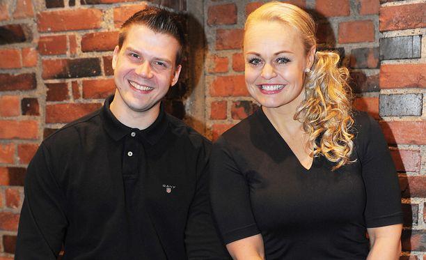 Janne ja Taina kisasivat myös Fort Boyard - Linnake -tosi-tv-sarjassa. Kuva helmikuulta 2013.