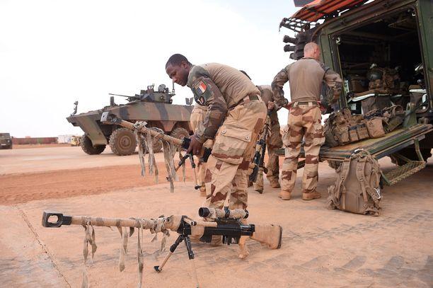 Ranskalaisia joukkoja Malissa vuonna 2017.