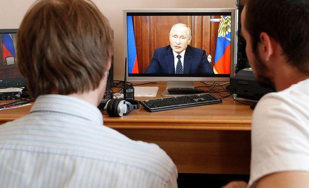 Putin ilmoitti muutoksista televisiopuheessaan.