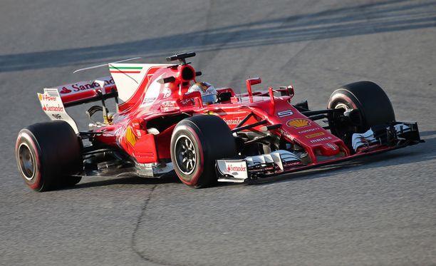 Sebastian Vettel ei kellottanut parasta mahdollista aikaa Barcelonan testeissä.