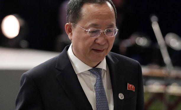 Pohjois-Korean ulkoministeri Ri Yong-ho elokuussa.