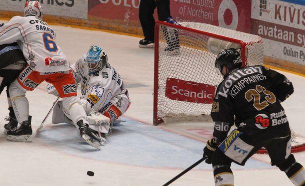 Joonas Kemppainen oli Kärppien tärkein pelaaja.