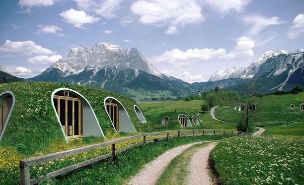 Green Magic Homes -yhtiön havainnekuva heidän taloistaan.