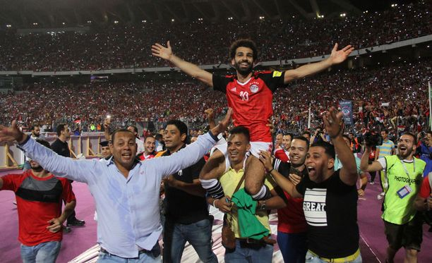 Mohamed Salah oli juhlittu sankari.