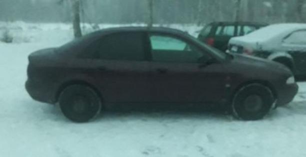 Lindellin ohella myös hänen käytössään ollut auto, vuoden -95 Audi A4 on kateissa.