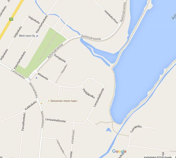 Poliisi on julkaissut kartan tapahtumapaikasta.