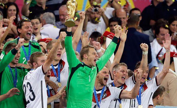 Maailmanmestarit jatkavat juhliaan Münchenissä.